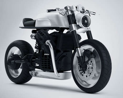 Aerodynamic Motorcycle Concepts - The CX500 Bike Features a Minimalist Aesthetic with Exposed Parts