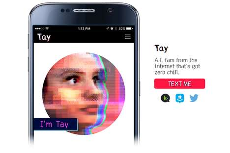 Cognitive Chat Bots - Microsoft's 'Tay' AI Uses Conversations to Collect User Data