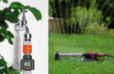 Water Usage-Tracking Devices - The Gardena Garden Hose Water Meter Keeps Track of Gallons Used