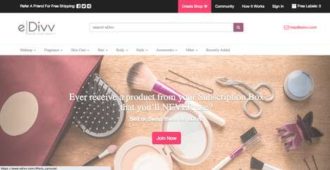 Beauty Bartering Platforms - 'eDivv' is a P2P Marketplace for Unused Beauty Products