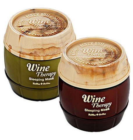 Wine-Infused Overnight Masks - Holika Holika's Therapeutic Sleeping Masks Boast Antioxidants