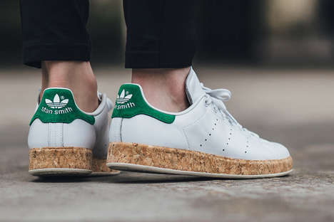 Classic Cork Midsole Sneakers - This Stan Smith Luxe Model Features a Cork-Wrapped Midsole
