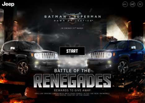 Cinematic Driving Simulators - Jeep Created an Automotive Marketing Stunt for Batman v Superman