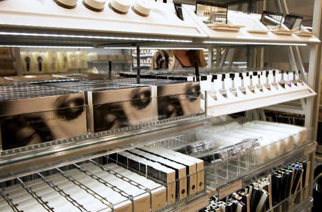 Private Label Beauty Merchandising - H & M's Beauty Range is Promoted with New In-Store Environments