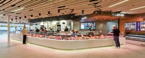 Two-Sided Butcheries - The Vers Passage Accomedates Customer Traffic from a Curved Counter Display