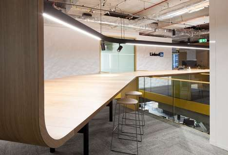 Open-Sharing Offices - LinkedIn Australia Open-Concept Layout Benefits Information Sharing
