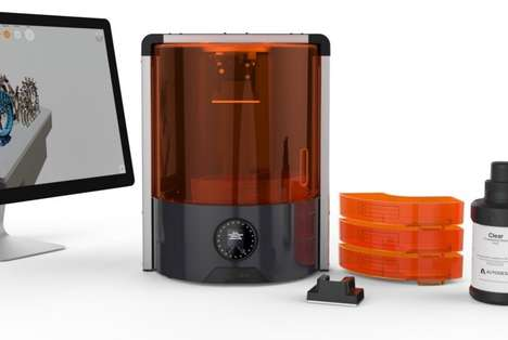 Glass Optic 3D Printers - The Autodesk 'Ember' 3D Printer System Streamlines Manufacturing