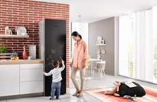 Stylish Blackboard Refrigerators - The Miele Blackboard Fridge is a Creative Domestic Appliance