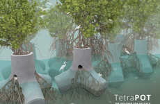 The TetraPOT is a Living Solution to Sea Defense Around the World