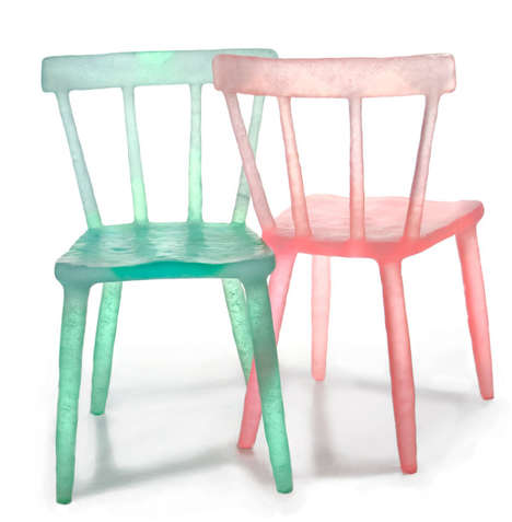 Melted Plastic Perches - Recycled Bottle Chairs Create Fantasy From Ethical Manufacturing