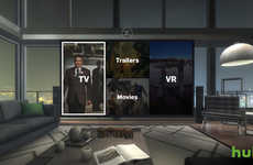 VR Home Theatre Experiences - The Hulu App Allows Consumers to Stream Media from Virtual Settings