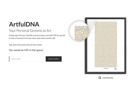 DNA-Generated Artwork - The 'Artful DNA' Platform Visualizes Each Person's Genome