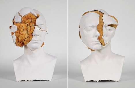 Bread-Bursting Busts - The Oneirophrenia Sculpture Series Features Surrealist Explosions of Faces