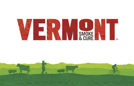 Pastoral Story-Telling Packaging - Vermont Smoke & Cure Received a Charming, Illustrated Rebrand