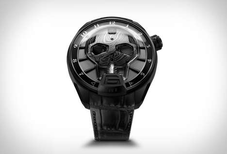 Sophisticated Skeletal Timepieces - The HYT Skull Bad Boy Watch Features a Morbid Design