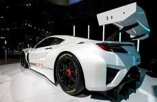 Aerodynamic Track Cars - The New Honda Acura NSX GT3 Features a Lightweight Engine Setup