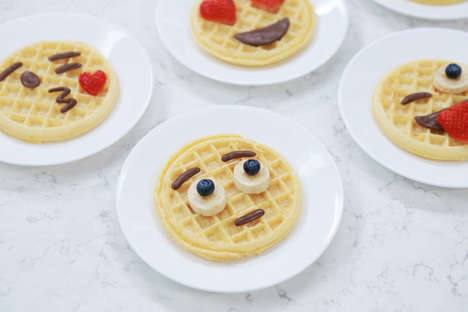 Expressive Emoji Breakfasts - Rosanna Pansino Creates Fun Emoji Food Waffles