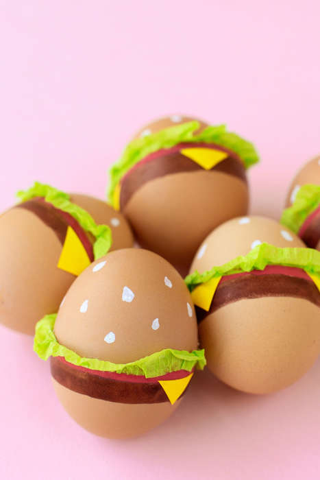 Burger Easter Eggs - Studio DIY's Homemade Burger Eggs for Easter are Festive and Food-Focused