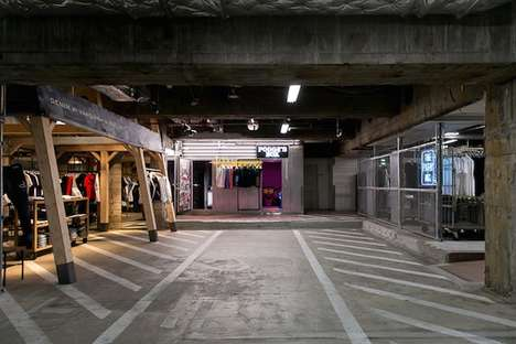 Parking Lot Shops - 'The Park-Ing' Transforms an Underground Parking Lot into a Retail Space