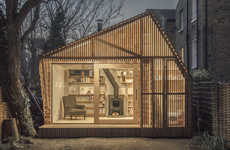 Fairytale Working Huts - The Writer's Shed Designed by Surman Weston is Located in Hackney, London
