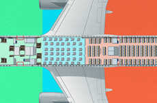Income-Based Airplane Seating - The Air Gini Seating Plan Reflects Income Distribution in the US