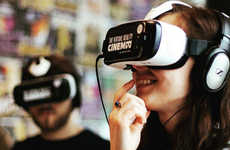 VR Movie Theaters - The Virtual Reality Cinema Provides Movie Lovers with an Immersive Experience