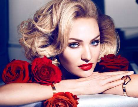 Darkly Glam Makeup Ads - The Max Factor Candice Swanepoel Campaign Features Mascara and More