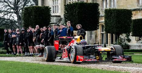 Race Car Rugby Ads - Red Bull and Ricciardo Teamed Up to Take on Bath Rugby Club in 'F1 Scrum'