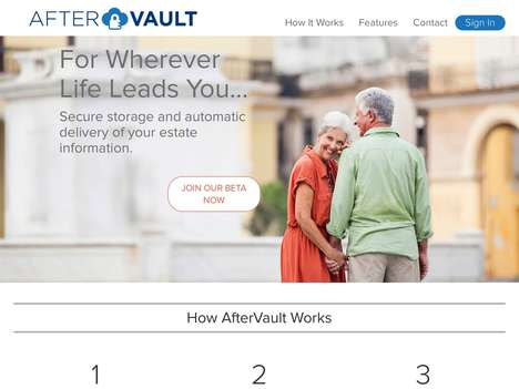 Estate Information Storage - Estate Planning Platform AfterVault Delivers Sensitive Information