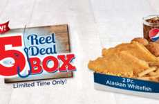 Comprehensive Seafood Meals - The $5 Reel Deal Box from Long John Silver's Includes Chicken and Fish