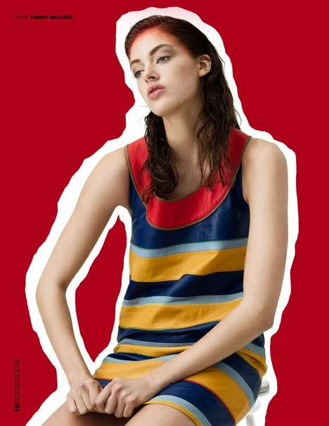 Chic Collage Editorials - Stephanie Pistel's 'Graphic Impact' Photoshoot Features Vivid Apparel