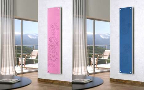 Stylistic Home Radiators - The Scirocco H 'New Dress' Wall Heater Provides Warmth and Style