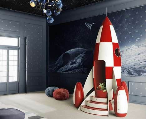 Imaginative Rocket Armchairs - The Circu 'Rocky Rocket' Child's Chair Provides a Place to Daydream
