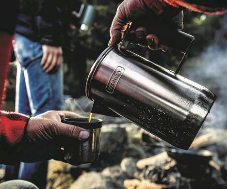 Camping Coffee Percolators - The Stanley Stainless Steel Coffee Maker Creates Cafe-Quality Coffee