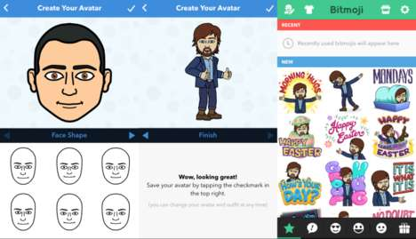 Social Media Custom Stickers - Snapchat Purchases Bitstrips for Personalized Comic Creations