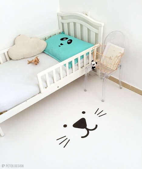 Monochromatic Animal Rugs - Petek Design's Cat Carpet is a Playful and Modern Accent Piece