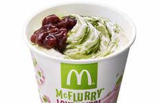 Matcha-Flavored Ice Creams - The Matcha McFlurry Combines Vanilla Ice Cream with Green Tea Powder