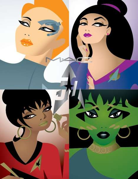 Intergalactic Cosmetics Collections - The MAC x Star Trek Line is Inspired by the Famous Series