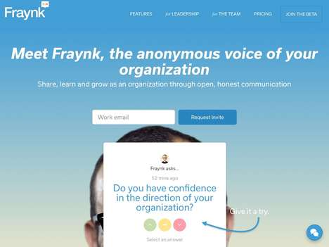 Nameless Venting Platforms - Startup Fraynk Facilitates Honesty at Work Through Anonymous Feedback