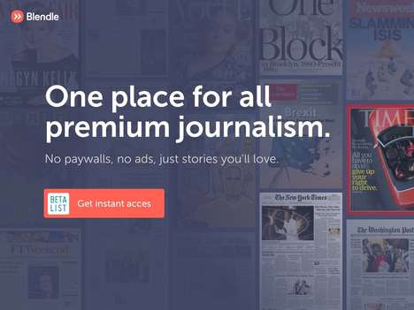 Premium Journalism Platforms - Blendle Allows Readers to Only Pay for the Stories They Love