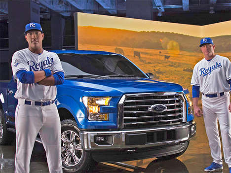 Baseball-Inspired Trucks - The Ford F-150 MVP Edition Truck Design Celebrates the Kansas City Royals