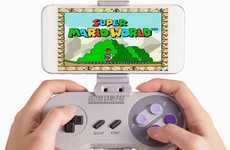Nostalgic Smartphone Controllers - The 'SNES30' Bluetooth Game Controller Allows for Classic Gaming