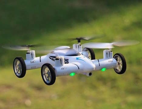 Flying Vehicle Toys - The 'SpaceRails' Flying Car Drone Toy Shifts Between Land and Sky Seamlessly