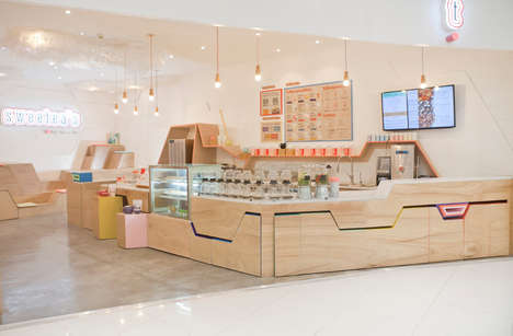 Airy Mountain-Inspired Tea Shops - Sweetea's is a New Tea Cafe Concept at a Manila Shopping Center