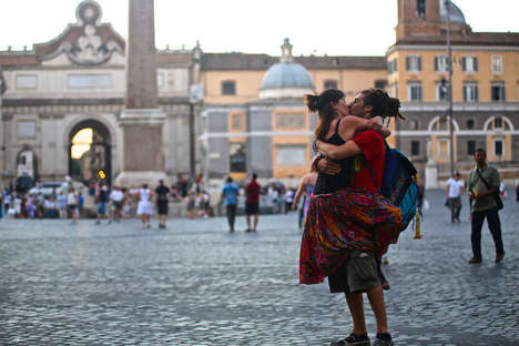 Worldly Kissing Photography - Ignacio Lehmann Captures Romantic Moments While He Travels