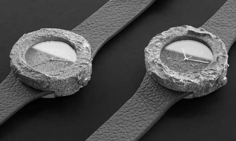 Celestial Rock Watches - The Lunar Watch by Analog Watch Co. is Made with Collected Moon Minerals