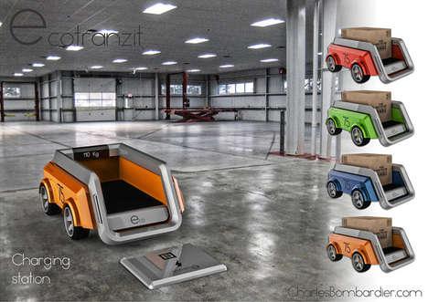 Autonomous Shipping Robots - The Conceptual Ecotranzit Provides a Solution to Truck Deliveries