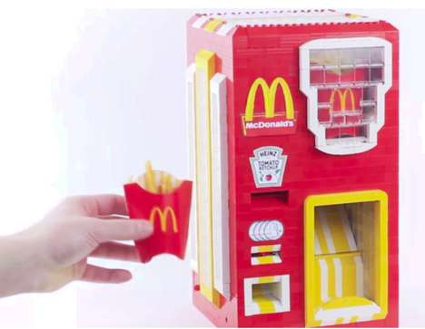 LEGO French Fry Dispensers - This McDonald's French Fry Dispenser Takes Snacking to a New Level
