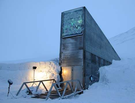 Global Seat Vaults - Norway Houses a Futuristic Facility Guarding 850,000 Seed Copies