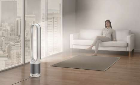 Smart Air Purifiers - The New Dyson Purifier Connects to Your Smartphone to Show Pollution Levels